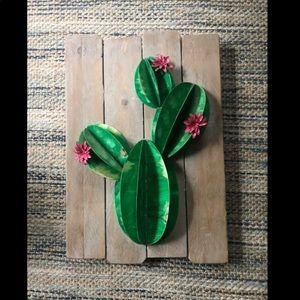 Cactus wall decor